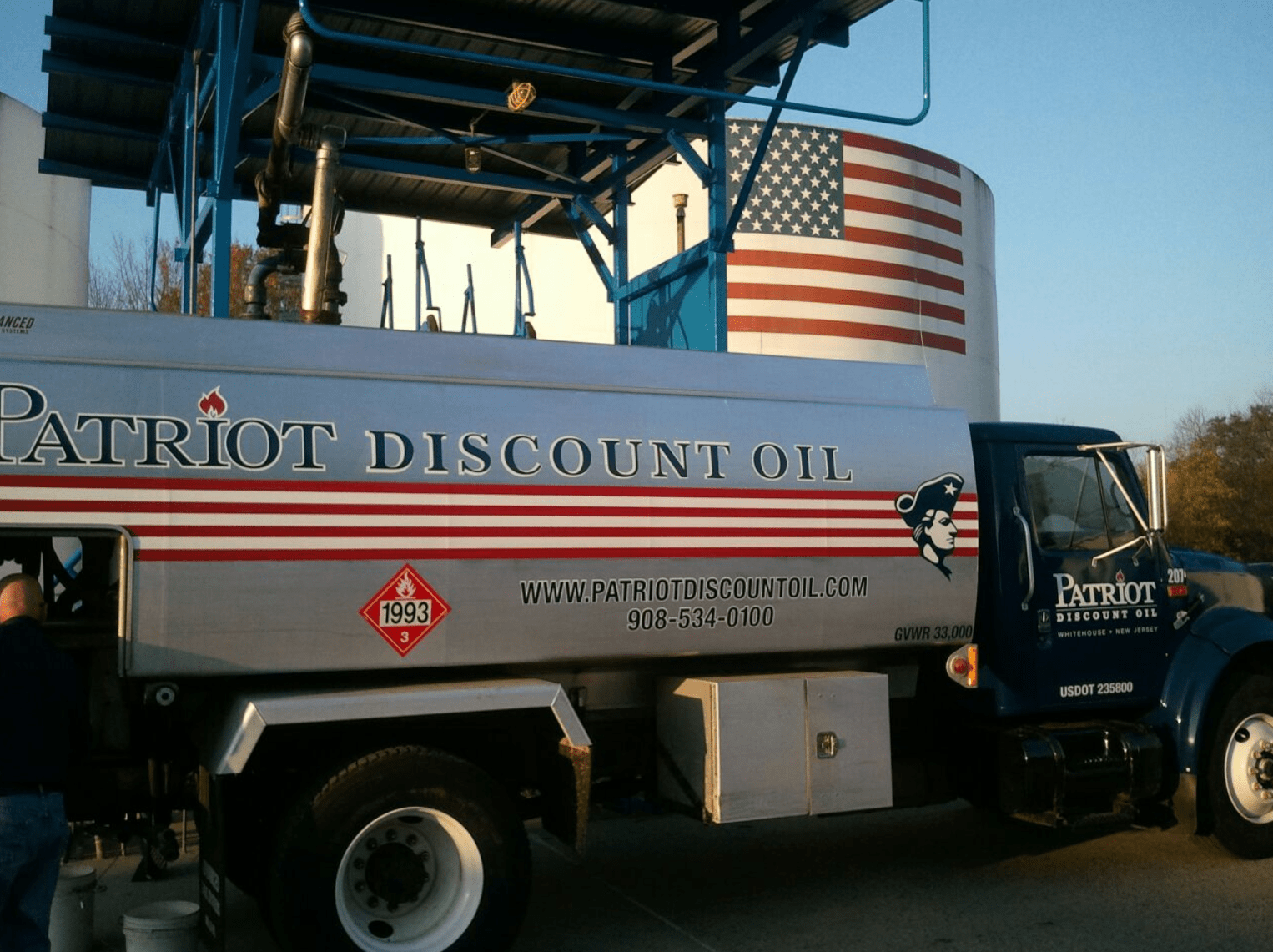 patriot discount oil company truck